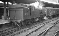 V3 2-6-2T no 67656 brings a train of empty stock into Newcastle Central in the early 1960s. <br><br>[K A Gray&nbsp;//]
