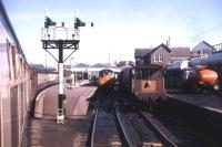 Passenger and freight traffic at Mallaig, summer 1971. In these days mixed passenger/freight trains were a regular feature of operations on the Mallaig Extension.<br><br>[David Spaven&nbsp;//1971]