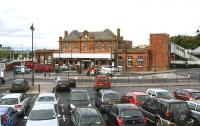 The approach to Berwick station. View west across the car park from Castlegate in October 2012. [See image 4771]<br><br>[John Furnevel&nbsp;12/10/2012]