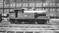 Wainright 'H' class 0-4-4T no 31550, photographed on Stewarts Lane shed, thought to have been taken in the late 1950s. The locomotive was withdrawn in February 1961. <br><br>[K A Gray&nbsp;//]