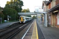 Two Class 375 sets call at Robertsbridge, East Sussex, en route to London from the coast on 25 October 2010.<br><br>[John McIntyre&nbsp;25/10/2010]