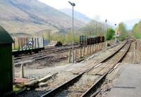 View south from Arrochar and Tarbet on 10 April 2005 showing the timber loading terminal on the left.<br><br>[John Furnevel&nbsp;10/04/2005]