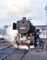 DB 052-908-0 on shed at Duisburg Wedau in February 1977<br><br>[Peter Todd&nbsp;/02/1977]