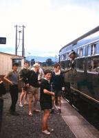Young and old await the departure of a Blair Atholl-Perth local from Dalguise in August 1962. The station closed to passengers in May 1965.<br><br>[Frank Spaven Collection (Courtesy David Spaven) /08/1962]