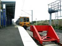 The Tyne & Wear Metro terminus at South Hylton in July 2004. A train for St James waits at the platform. <br><br>[John Furnevel&nbsp;04/07/2004]