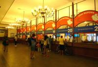 The elegant booking hall at Krakow Glowny on 25 July 2012. All will be gone once the new station entrance is commissioned and this building becomes a gallery. <br><br>[Colin Miller&nbsp;25/07/2012]