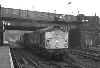 Haymarket BRCW Type 2 no D5312 gets the right away from Carlisle on 7 December 1968. The train is the 13.00 Carlisle - Edinburgh Waverley via Hawick.<br><br>[K A Gray&nbsp;/12/1968]