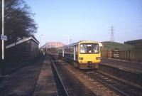 143612 westbound for Carlisle, photographed at Brampton, Cumbria, in May 1990. The platform for the short branch to Brampton Town (closed 1923) was just off picture to the left. <br><br>[Ian Dinmore&nbsp;/05/1990]