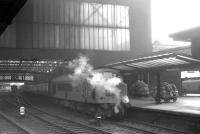 Holbeck Peak D53 <I>'Royal Tank Regiment'</I>, photographed shortly after arrival at Carlisle on 6 December 1968 with train 1S49, the 10.25 Leed City - Glasgow Central.<br><br>[K A Gray&nbsp;06/12/1968]