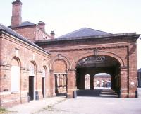 Approach to Stockton station in May 1990. The former station building has since been converted to retirement housing and is now known as Hackworth Court.<br><br>[Ian Dinmore&nbsp;16/05/1990]