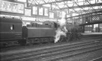 Ivatt 4MT 2-6-0 no 43000 arrives at Carlisle on Saturday 3 August 1963 with the 6.32pm train from Langholm.<br><br>[K A Gray&nbsp;03/08/1963]