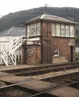 Fort William signal box, July 1991.<br><br>[Ian Dinmore&nbsp;/07/1991]