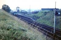 A DMU for Lanark stands at Muirkirk in October 1964, just prior to closure. <br> <br><br>[Colin Miller&nbsp;/10/1964]