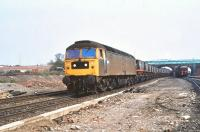 47179 photographed at Knottingley with a train of coal hoppers in April 1980.<br><br>[Peter Todd&nbsp;14/04/1980]