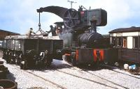 Dubs 0-4-0CT Crane Tank (4101/1901) at work on the East Somerset Railway on 7 May 1983.   <br><br>[Peter Todd&nbsp;07/05/1983]