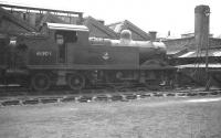 Stanier 2P 0-4-4T no 41905 in a siding alongside Buxton shed in April 1962. The locomotive is recorded as having been officially withdrawn from here more than 2 years earlier. It was cut up at Crewe works a month after this photograph was taken.<br><br>[K A Gray&nbsp;16/04/1962]