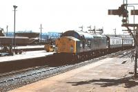 40081 arrives out of the sun at Aberdeen on 5 May 1980 with a train from the south.<br><br>[Peter Todd&nbsp;05/05/1980]