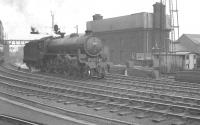 An undated phototograph showing B1 4-6-0 no 61009 <I>Hartebeeste</I> at Newcastle Central. The locomotive was withdrawn by BR from Lincoln shed in September 1962.<br><br>[K A Gray&nbsp;//]