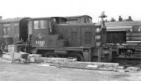 One of a plethora of diesel shunter types built for BR in small numbers and fated to a brief existence, D2865 had emerged from the works of the Yorkshire Engine Co. in late 1961 and had already been withdrawn for about five months when photographed languishing in the goods yard at Goole in August 1970.<br><br>[Bill Jamieson&nbsp;12/08/1970]