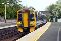 158702 <I>'BBC Scotland 75 Years'</I> southbound at Inverkeithing on 19 May 2011.<br><br>[Colin Miller&nbsp;19/05/2011]