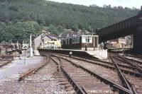 The old station at Aberbeeg, photographed in 1977.<br><br>[Ian Dinmore&nbsp;//1977]