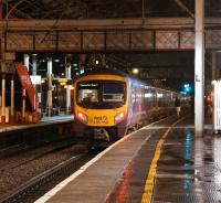 Having arrived separately, FTPE 185150 has just coupled up to a second unit and will shortly be departing from Preston heading for Manchester Airport on 3 January 2013.<br><br>[John McIntyre&nbsp;03/01/2013]