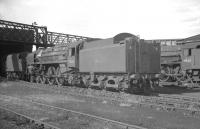 Britannia Pacific 70015 <I>Apollo</I> on Upperby shed, thought to be in July 1967, a month before withdrawal. <br><br>[K A Gray&nbsp;15/07/1967]