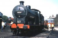 Midland 4F 0-6-0 no 43924 in the yard at Haworth in 1976. <br><br>[Colin Miller&nbsp;//1976]