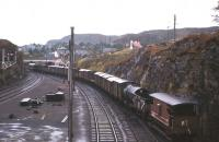 The daily goods for Inverness heads out of Kyle on a dreich October day in 1966.<br><br>[Frank Spaven Collection (Courtesy David Spaven)&nbsp;/10/1966]