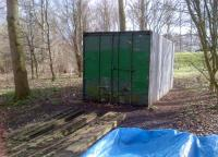 There are sheds, and there are sheds. This ISO shipping container is suitably thief-proof when the Willen Lake miniature railway [see image 38253] is closed.<br><br>[Ken Strachan&nbsp;24/02/2012]