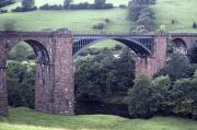 View from the south-west of Waterside Viaduct on the Ingleton to Low Gill line in September 1984. The viaduct was opened by the LNWR in 1861 and closed to passengers in 1954, with freight traffic continuing until 1966. <br><br>[Bill Jamieson&nbsp;23/09/1984]