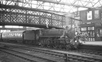 Corkerhill's Standard Class 5 4-6-0 no 73102 arrives at Carlisle platform 4 on 3 July 1965 with the 8.37am Glasgow Central - London St Pancras. <br><br>[K A Gray&nbsp;03/07/1965]