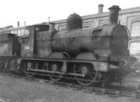 GWR Dean Goods 0-6-0 no 2516, built at Swindon in 1897, seen outside the Works in 1961 awaiting restoration to prepare for display in the then Swindon Railway Museum, housed in a former chapel building. <br><br>[David Pesterfield&nbsp;07/05/1961]