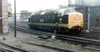 Deltic 55002 <I>The Kings Own Yorkshire Light Infantry</I> photographed at Newcastle Central in 1981.<br><br>[Colin Alexander&nbsp;//1981]