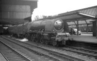 Stanier 'Coronation' Pacific no 46225 <I>Duchess of Gloucester</I> at Carlisle on 18 July 1964 with the 12.52 London Euston - Glasgow Central.<br><br>[K A Gray&nbsp;18/07/1964]