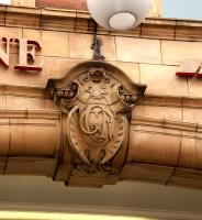 Detail of arched entrance to Marylebone station, January 2013.<br><br>[Peter Todd&nbsp;12/01/2013]