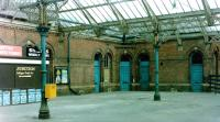 Part of the run-down concourse at Tynemouth station in 1981 [see image 38207].<br><br>[Colin Alexander&nbsp;//1981]