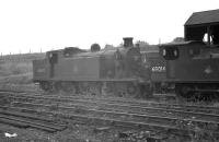 Locomotives 'stored' at Polmont in 1959 included C16 4-4-2T no 67492 and J72 0-6-0T no 69014. Both were ex-64A, with 67492 'officially withdrawn' the following  March and cut up at Cowlairs the same month. As for 69014, withdrawal is recorded as February 1962 with disposal at Arnott Young, Carmyle, in August 1963.<br><br>[K A Gray&nbsp;27/07/1959]
