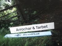 Grounded signs at Arrochar and Tarbet in the summer of 1991.<br><br>[Ian Dinmore&nbsp;/07/1991]