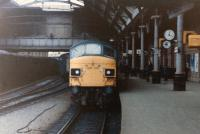 Holbeck 'Peak' no 45027 stands at Newcastle Central in 1981, the year of its withdrawal.<br><br>[Colin Alexander&nbsp;//1981]