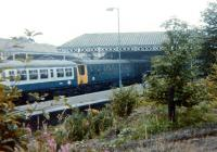 A DMU from Newcastle at Tynemouth station on 10 August 1980. This was the final day of scheduled BR operations before the route was handed over to the Tyne and Wear Metro.<br><br>[Colin Alexander&nbsp;10/08/1980]