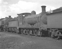 Ex-North British J36 0-6-0 no 65295, a veteran of 1897, stabled alongside Parkhead shed in April 1961, the same month as its withdrawal by BR.<br><br>[K A Gray&nbsp;03/04/1961]
