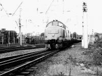 A class 37 brings a freight into the south end of Mossend yard in the summer of 1996.<br><br>[John Furnevel&nbsp;01/07/1996]