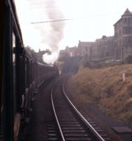 A V2 makes a stormy start on the 1 in 70 climb from Inverkeithing to North Queensferry on 16th July 1961.<br><br>[Frank Spaven Collection (Courtesy David Spaven)&nbsp;16/07/1961]