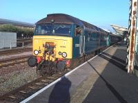 The driver of 57316 looks back to check all is in order before she starts off from Chester on the final leg of the 16.16 ex-Cardiff Central Welsh Assembly funded service to Holyhead. <br><br>[David Pesterfield 11/05/2010]