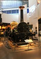 The <I>Titfield Thunderbolt</I> herself, but masquerading as <I>Lion</I> of the Liverpool and Manchester Railway in the display hall in the new Museum of Liverpool. It seems incredible to think that this veteran, built in 1838, steamed as recently as 1989. However, the work required now to allow her to steam safely would destroy too much conserved material so she will remain a static exhibit.  <br><br>[Mark Bartlett&nbsp;15/02/2013]