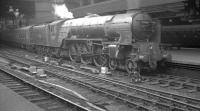 An undated photograph showing A1 Pacific no 60144 <I>Kings Courier</I> standing at Newcastle Central.<br><br>[K A Gray&nbsp;//]