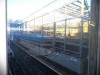 Construction work continuing apace at Haymarket on 15 February 2013.<br><br>[John Yellowlees&nbsp;15/02/2013]