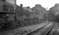 LMS Fowler class 2P 4-4-0 no 40620 on Corkerhill shed in September 1960, a year before final withdrawal.<br><br>[K A Gray&nbsp;04/09/1960]