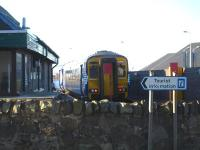 156492 stands at Mallaig during the 17 min layover following arrival from Fort William before starting out on the 5 hour 20 minute journey back to Glasgow Queen Street.<br><br>[David Pesterfield&nbsp;20/02/2013]
